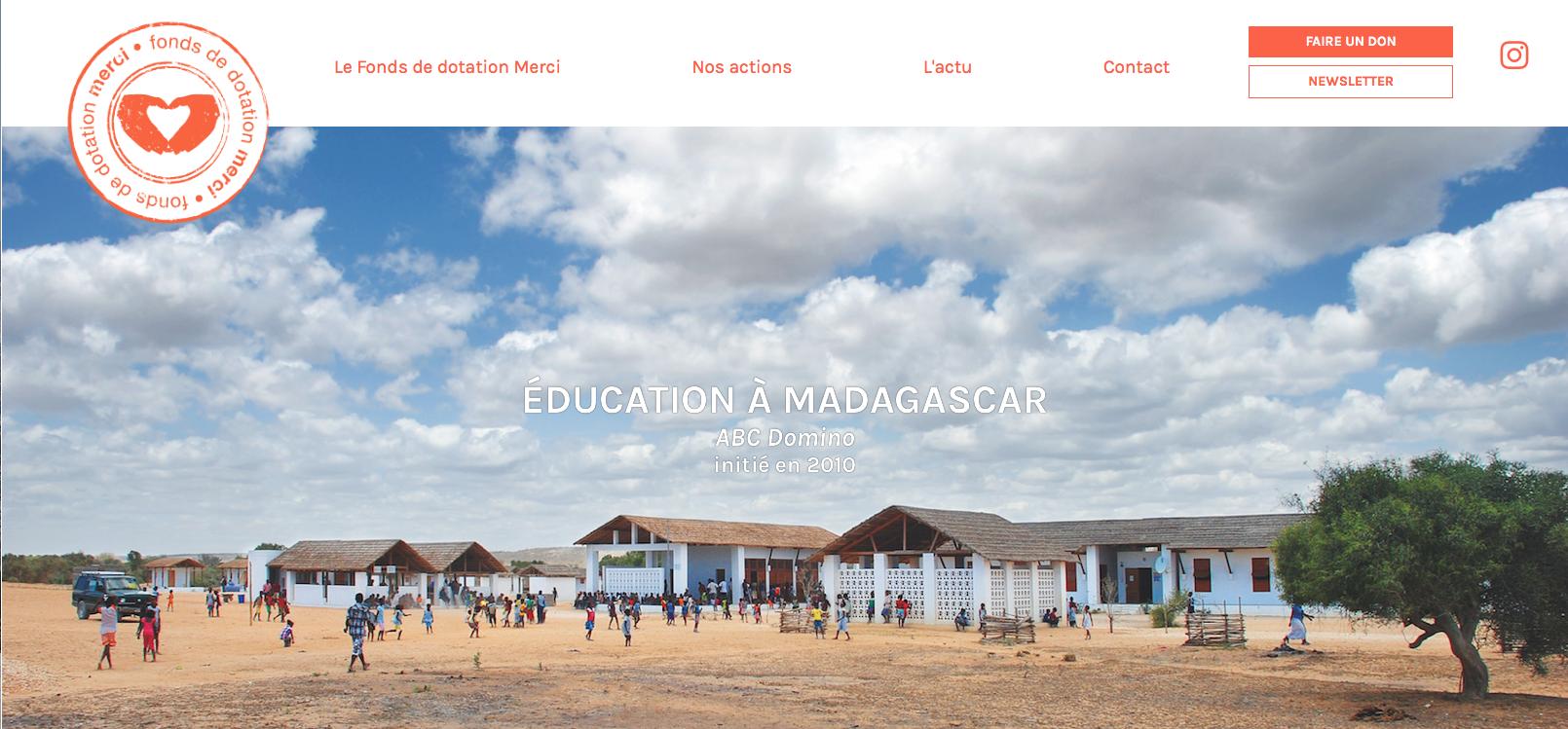 Le nouveau site du Fonds de dotation Merci est en ligne
