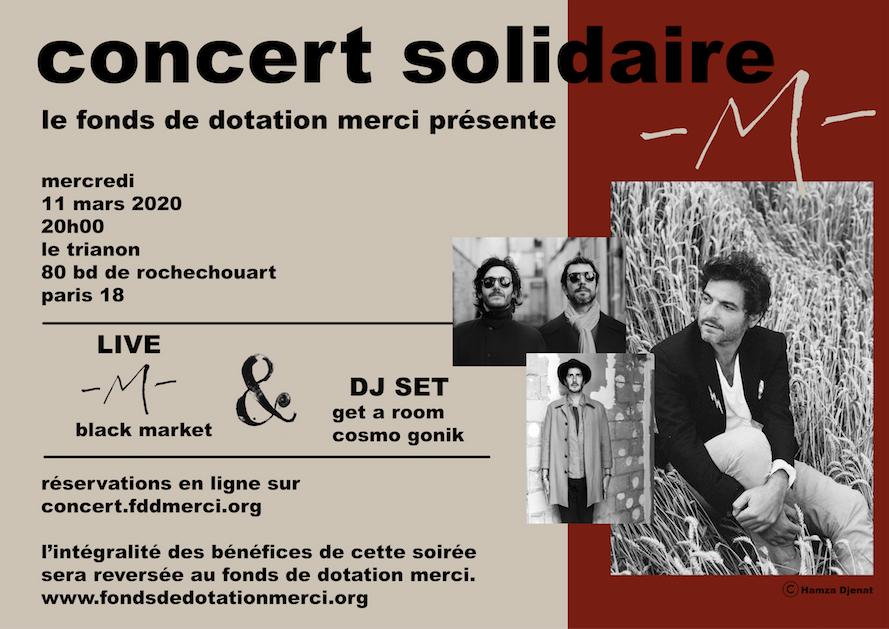 Concert solidaire -M- pour le Fonds de dotation Merci